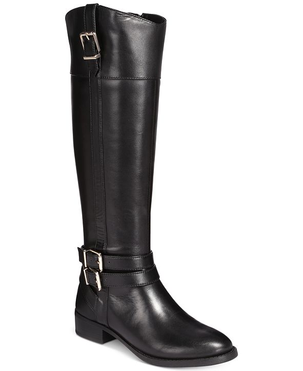 INC International Concepts INC Frankii Riding Leather Boots , Created for Macy's