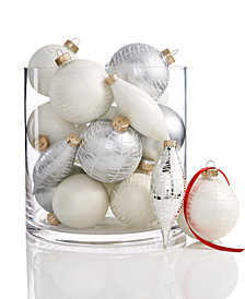 Holiday Lane Set of 22 Glass Ornaments, Created for Macy's