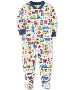 Carters 1Pc ConstructionPrint Footed Pajamas Baby Boys (024 months)
