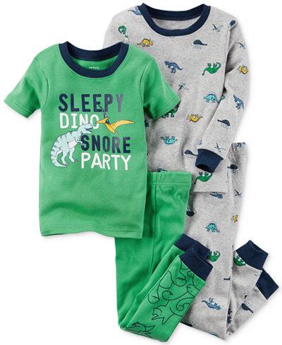 Carter's 4-Pc. Sleepy Dino Cotton Pajama Set, Baby Boys