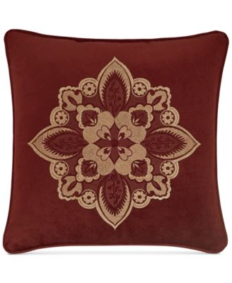 "Rosewood Burgundy 18"" Square Decorative Pillow"