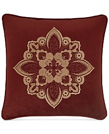 j queen new york rosewood burgundy 18 square decorative pillow - Red Decorative Pillows