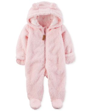 Carter's Hooded Fleece Footed Pram Bunting, Baby Girls (0-24 months) 4585556