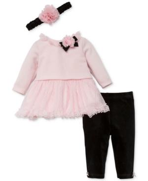 Little Me 3Pc Headband Sweater Dress  Leggings Set Baby Girls (024 months)
