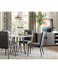CLOSEOUT! Callisto Marble Round Dining Furniture Collection, Created for Macy's