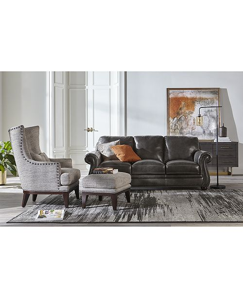 Roselake Leather Sofa Collection, Created for Macy\'s
