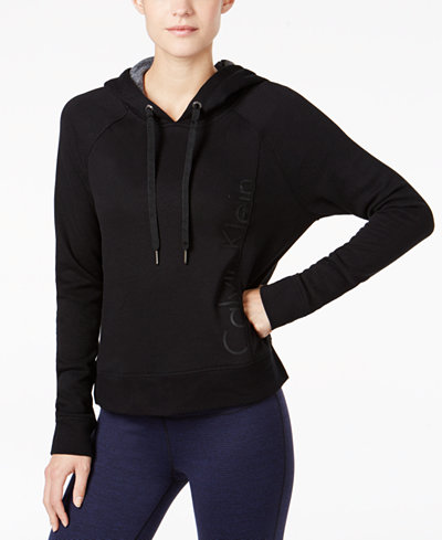 Calvin Klein Performance Cropped Fleece Hoodie, Created for Macy's