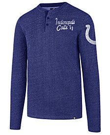 '47 Brand Men's Indianapolis Colts Grain Henley Top