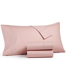 CLOSEOUT! Martha Stewart Collection 4-Pc. Solid Full Sheet Set, 400 Thread Count 100% Cotton Percale, Created for Macy's