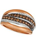 Le Vian Chocolatier® Diamond Ring (7/8 ct. t.w.) in 14k Rose Gold & White Gold
