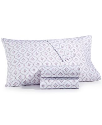 CLOSEOUT! 4-Pc. Printed Full Sheet Set, 400 Thread Count 100% Cotton Percale, Created for Macy's