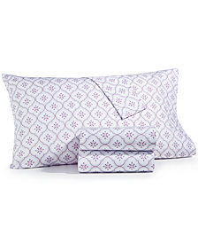 CLOSEOUT! Martha Stewart Collection 4-Pc. Printed Full Sheet Set, 400 Thread Count 100% Cotton Percale, Created for Macy's