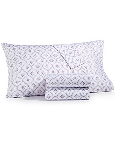 CLOSEOUT! Martha Stewart Collection 3-Pc Printed Twin Sheet Set, 400 Thread Count 100% Cotton Percale, Created for Macy's