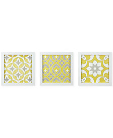 Madison Park Tuscan Tiles 3-Pc. Framed Gel-Coated Wall Art Set