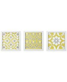 Madison Park Tuscan Tiles 3-Pc. Framed Gel-Coated Wall Art Set