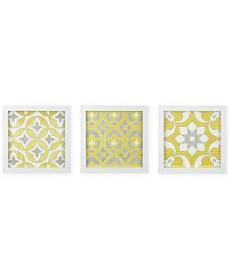 Wall Art Set Of 3 madison park tuscan tiles 3-pc. framed gel-coated wall art set