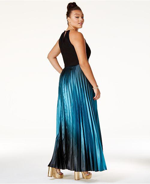3c451cbf3eb City Chic Plus Size Ombré Pleated Satin Gown   Reviews - Dresses ...