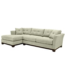 Michelle 2-Pc. Reversible Chaise Sectional Sofa, Created for Macy's