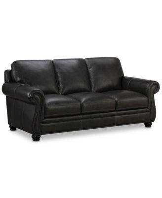 "Roselake 87"" Leather Sofa, Created for Macy's"