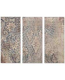 Madison Park Weathered Damask Walls 3-Pc. Linen Canvas Print Set