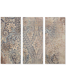 Madison Park Weathered Damask Walls 3-Pc. Linen Canvas Print Set