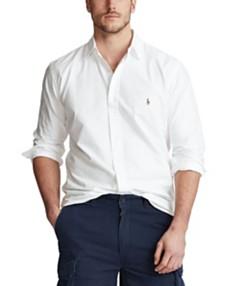 233b587e Polo Ralph Lauren Men's Big and Tall Classic Fit Long-Sleeve Oxford Shirt