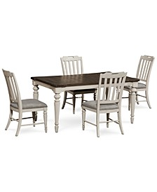 Barclay Expandable Dining 5-Pc. Set (Dining Table & 4 Upholstered Side Chairs)