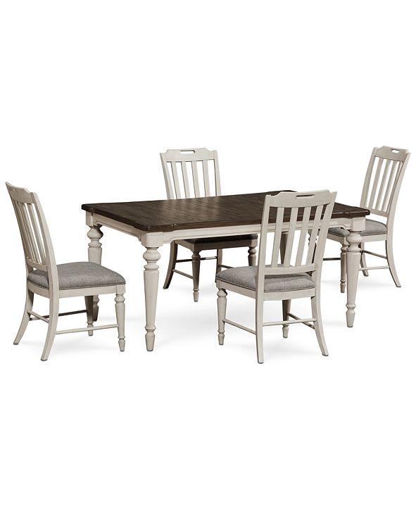 Furniture Barclay Expandable Dining Furniture, 5-Pc. Set (Dining Table & 4 Upholstered Side Chairs)