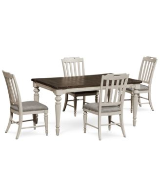 Barclay Expandable Dining Furniture, 5 Pc. Set (Dining Table U0026 4 Upholstered