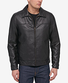 Tommy Hilfiger Men's Faux Leather Bomber Jacket