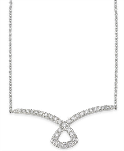 Diamond Collar Necklace (1/3 ct. t.w.) in 14k White Gold