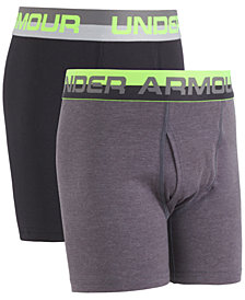 Under Armour 2-Pk. Boxer Briefs, Little Boys & Big Boys