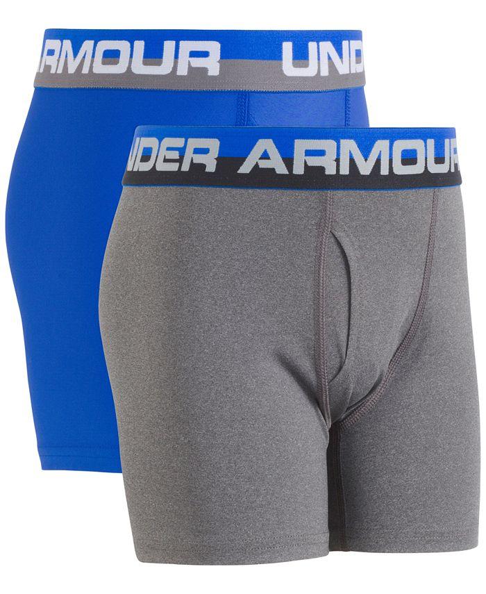 Under Armour - 2-Pk. Boxer Briefs, Little Boys (2-7) & Big Boys (8-20)
