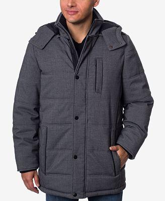 Perry Ellis Men's Stretch Hooded Parka - Coats & Jackets - Men ...