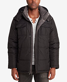Sean John Men's Camo-Lined Parka
