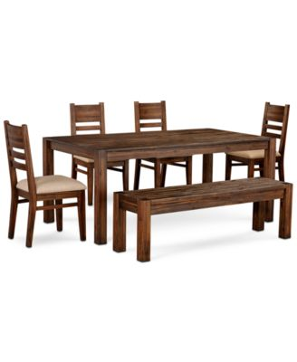 "Avondale Large Dining, 6-Pc. Set (72"" Dining Table, 4 Side Chairs & Bench), Created for Macy's"