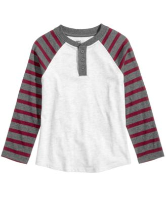 Image of Epic Threads Striped Henley, Toddler & Little Boys (2T-7), Created for Macy's
