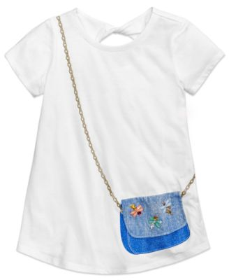 Image of Jessica Simpson Katelyn Twist-Back Purse-Pocket T-Shirt, Big Girls (7-16)