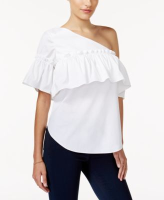 Exceptionnel Image 1 Of Bar III One Shoulder Top, Created For Macyu0027s