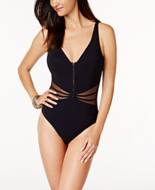 Profile by Gottex Grand Prix Tummy-Control Illusion One-Piece Swimsuit