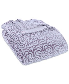 Berkshire VelvetLoft® Tipped Floral Plush King Blanket