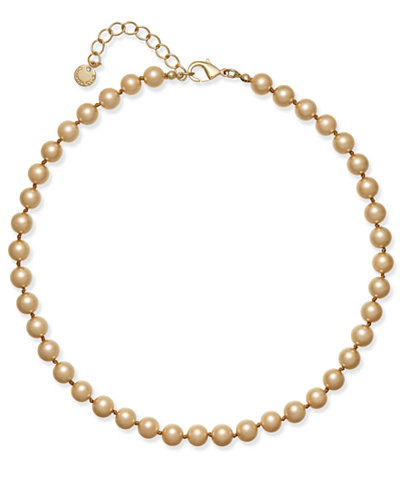 Charter Club Champagne Imitation Pearl Collar Necklace, Created for Macy's