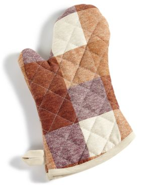 Martha Stewart Collection Cotton Butcher Block Checked Oven Mitt, Created for Macy's 4789081