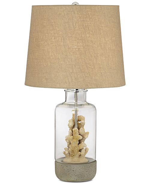 Pacific coast faux coral table lamp lighting lamps home macys main image main image aloadofball Images