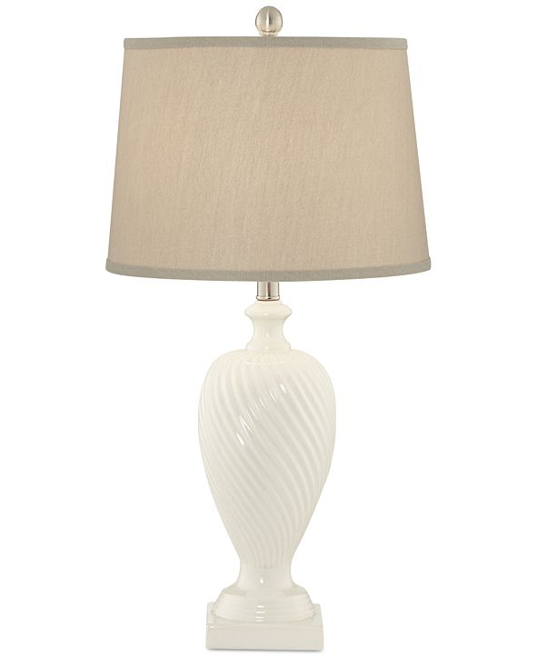 Kathy Ireland Pacific Coast Crackle Ceramic Table Lamp