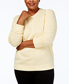 Karen Scott Plus Size Sweatshirt, Created for Macy's