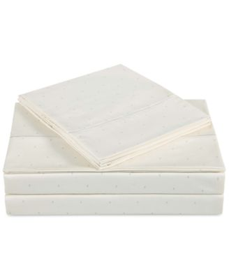 Classic Cotton Sateen 310 Thread Count Dot Pair of Standard Pillowcases
