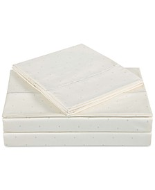 Classic Cotton Sateen 310 Thread Count Dot Pair of King Pillowcases