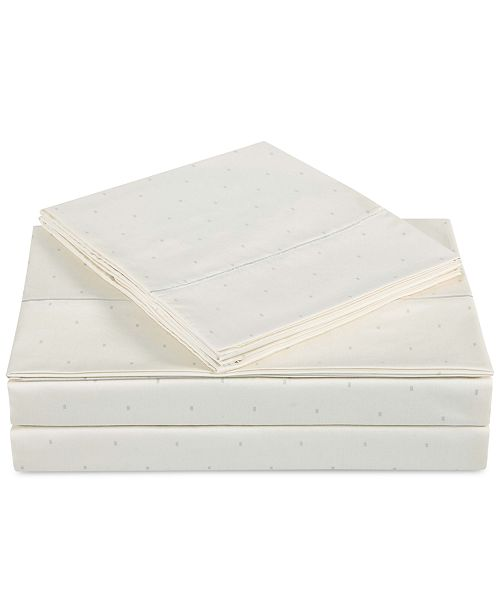Charisma CLOSEOUT! Classic Cotton Sateen 310 Thread Count Dot Pair of Standard Pillowcases