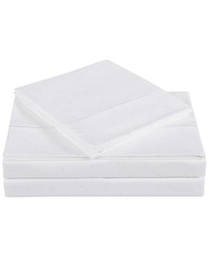 Charisma Classic Cotton Sateen 310 Thread Count Dot Pair of Standard Pillowcases Bedding